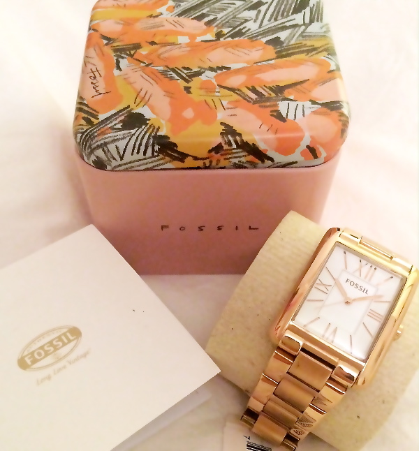 Florence Fossil Rose Watch